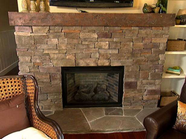 Stacked stone fireplace how to video diy solutioingenieria Choice Image
