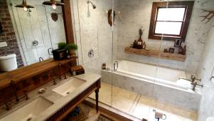 Modern Bath With Vintage Style