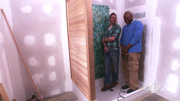 Custom Cedar Shower Wall Video Diy